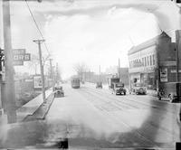 Streets; Fenkell Avenue. West of Livernois. Street cars
