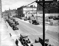 Streets; Gratiot . Before Widening 1932. Views on widening of Gratiot Avenue From Brush to Russell Street.