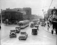 Streets; Gratiot. Before widening 1930. Looking West from Chene.