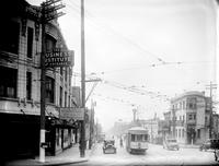 Streets; Gratiot. Before widening 1930. Looking West from Mack.