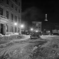 Winter Scenes; Detroit; Record snow fall, February, 1965