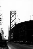 Skyline; Downtown Detroit Scenes. Profiles. High contrast photo