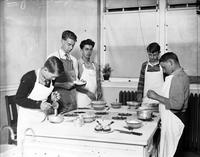 Schools; Cooking Class for Boys. 4x5
