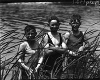 Boys; Swimming in Detroit River