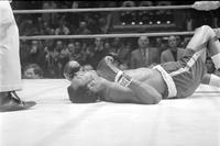 Boxing Matches; Joe Frazier vs. Bob Foster. -Foster Falling