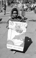 Atomic Energy; Michigan. Anti nuclear demonstration at Kennedy Square Detroit.