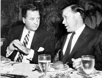 Reuther, Walter; Labor Leader; United Auto Workers; Groups. - With Henry Ford II