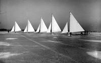 Boats; Iceboats; Lake St Clair. -Hermes IV, Gossoon II, No Foolin. Mistake, and Bernidi II.