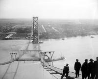 Ambassador Bridge; Construction. Views From Towers.