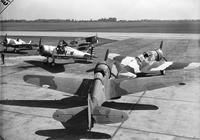 Army; Aero; Aircraft; Pursuit Planes. Close up of planes at Selfridge Field.