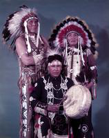 Sioux Indians. chiefs. Swift Horse, Pretty Bull, Brave In Front