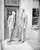 Lindbergh, Charles; With Henry Ford at Dearborn, 1942