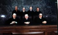 Michigan Supreme Court Justices. front row L to R;     Paul L Adams, Chief Justice Thomas M Kavanagh, & Eugene F Black. back row L to R;      G Mennen Williams, Thomas Giles Kavanagh, Thomas E Brennan & John B Swainson