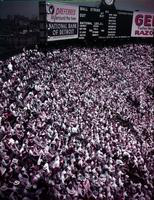 Baseball; Detroit; Briggs Stadium. & crowd in bleachers. taken July 1950