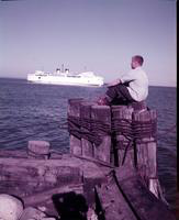Boats; Car Ferries; Vacationland. taken 1954