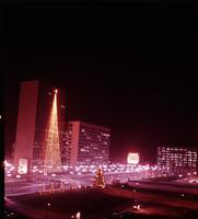 Christmas Scenes; Detroit Downtown. taken approx 1960