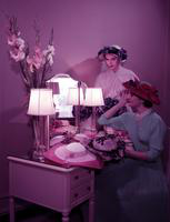 Clothing; Womens' Easter Hats. by designer Walter Florell. taken March 1955