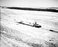 Steamships; Ice Bound; St. Mary's River; Group of 6 Boats of 11 Stranded. - Airphoto.