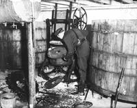 Prohibition; Raids. in Detroit, brewery near Antoinette & Willis. -Canfield station police destroy vats