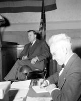 Reuther, Walter P. ; Labor Leader; Groups 1941-1953; at Bolton Trial.