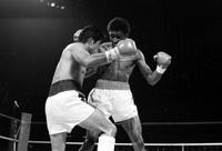 Hearns, Thomas; Boxer . Hearns-Gazo Fight at Cobo Hall .