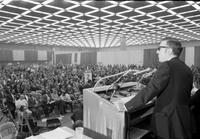 General Motors; Employees; Strikes; 1970. Leonard Woodcock asks delegates  to double union dues