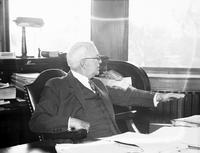 Couzens, James. U. S. Senator. portraits at desk. date is Sept 1933