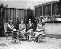 Women's City Club. Officers for 1930. L to R. Mrs. William B. Cady, President . Mrs. William S. Powers,  1st vice president . Mrs. V. George Krapfield, Secy . Mrs. C. F. hershfeld, Treas.