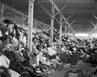 Wars; World; # 2; Detroit; Salvage; Clothing. Being prepared for shipment