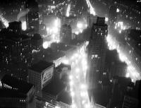 Wars; World; # 2; Detroit; Air Raid; Dimouts Panarama taken from above Penobscot Bldg  Before dimout