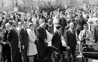 Johnson, Lyndon B. ; United States President; In Detroit; At funeral of Senator Patrick V. McNamara