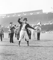 Schacht, Al . Baseball at World Series 1940 leading the band