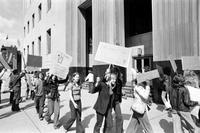 Busing; Anti-Busing Demonstration . -Anti Busing Demonstration at Federal Building By young Pickets