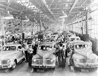 Chrysler Corporation; Plants; Plymouth. Assembly line.