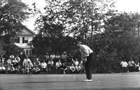Golf; Tournaments; Buick Open; At Grand Blanc. Gary Player & Crowd at 8th green