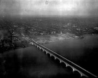 Aerial; Bridges; Belle Isle; From Jefferson Avenue Approach