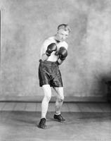 Dombrowski, Soldier; Boxer. 2 individ in boxing outfit. Date is 1929