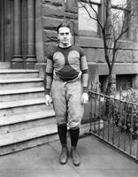 Colleges; University of Detroit; Footballl; Teams 1926-1921. Portraits of Capt. Barker (1926). Larry Welsh. Patsy McKenna. Gus Sornenburg. Walter Ellis. Jack McNamara. Portraits of Tom Maher. Capt 1924.