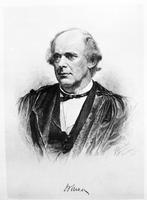 Chase, Salmon P. U. S. Supreme Court Chief Justice 1864-73. Copy of Etching by Max Rosenthal of Philadelphia. 1890