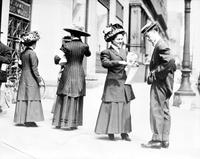 Clothing; Dresses; Old Time On Detroit Streets. Copy. Filed April 1931. Aproximately 1915.