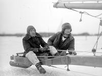 "Boats; Iceboats; ""Deuce II"". Views of boat; Owner, Joe Lodge. Crew: Russell Puliot, Joe Snay."