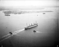 Steamships; Resolute. - Airphoto. Date is 1935