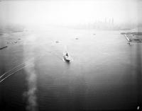 Steamships; Unidentified. - Airphoto.