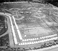 Detroit; Belle Isle; Athletic Field; Aerial View. Field meet