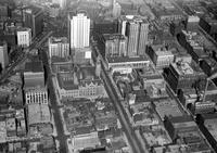 Detroit; Streets; Lafayette; Looking Toward Woodward; Aerial View. Showing Fort Street.