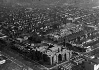 Detroit; Streets; Grand Boulevard;  West; Aerial View; Near 12th and 14th streets. Showing Providence Hospital.