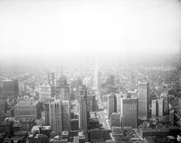 Detroit; Downtown; General Views; Showing Penobscot Building. Made for W8XWJ. - Airphoto.