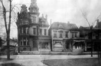 Old Detroit; Streets; Adams Avenue. North side of Adams near Park St. at Witherell.