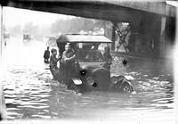 Floods; Detroit; Street Scenes. Grand Blvd.