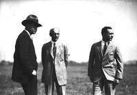 Ford, Henry; Groups; With Edsel Ford at Ford Airport